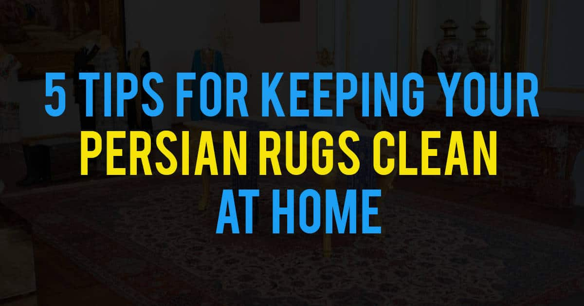 How To Clean Persian Rugs At Home – 5 Tips